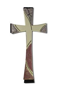 croce avorio e marrone