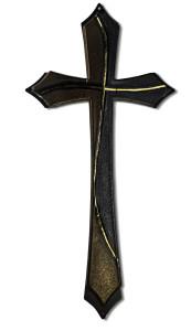 croce nera e marrone